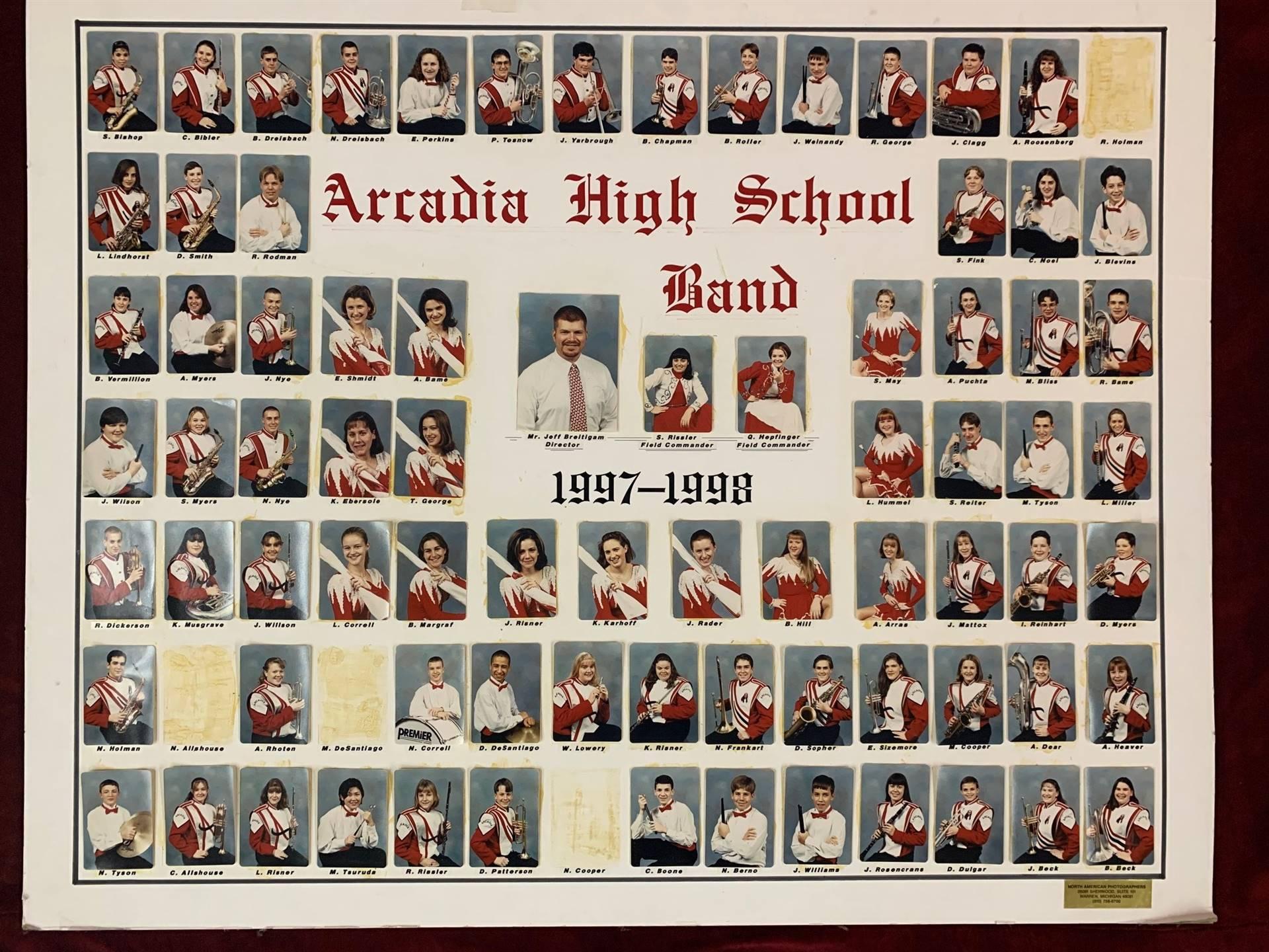 Arcadia High School Band 1997-1998