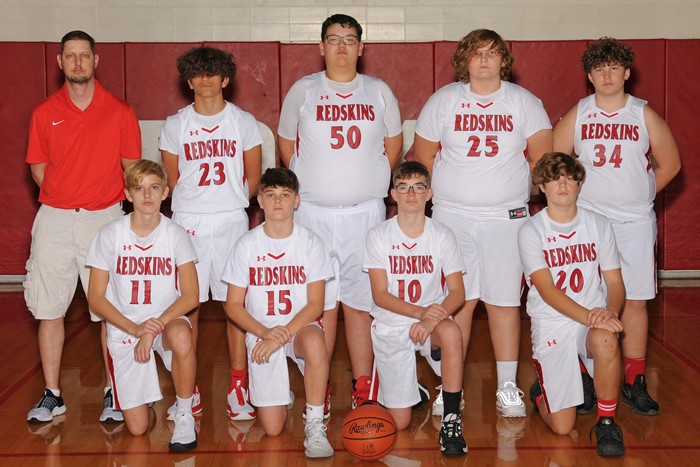 2020-21 Arcadia Redskins 8th Grade Basketball Team Photo