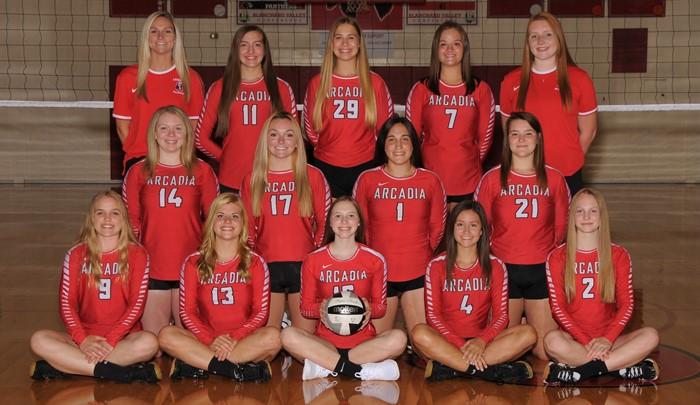 Arcadia Redskins 2020 Varsity Volleyball Team