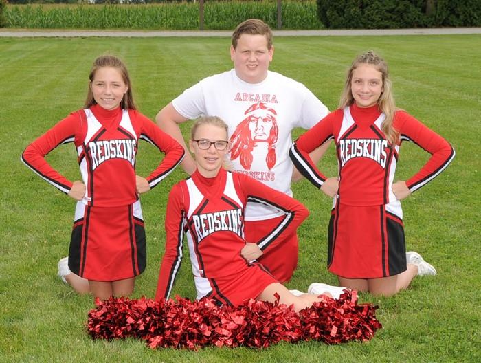 2020 Arcadia Redskins Middle School Football Cheerleaders Squad Photo