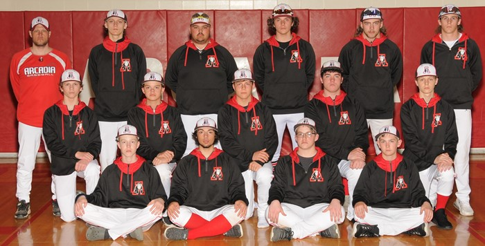 2020-21 Arcadia Redskins Varsity Baseball Team