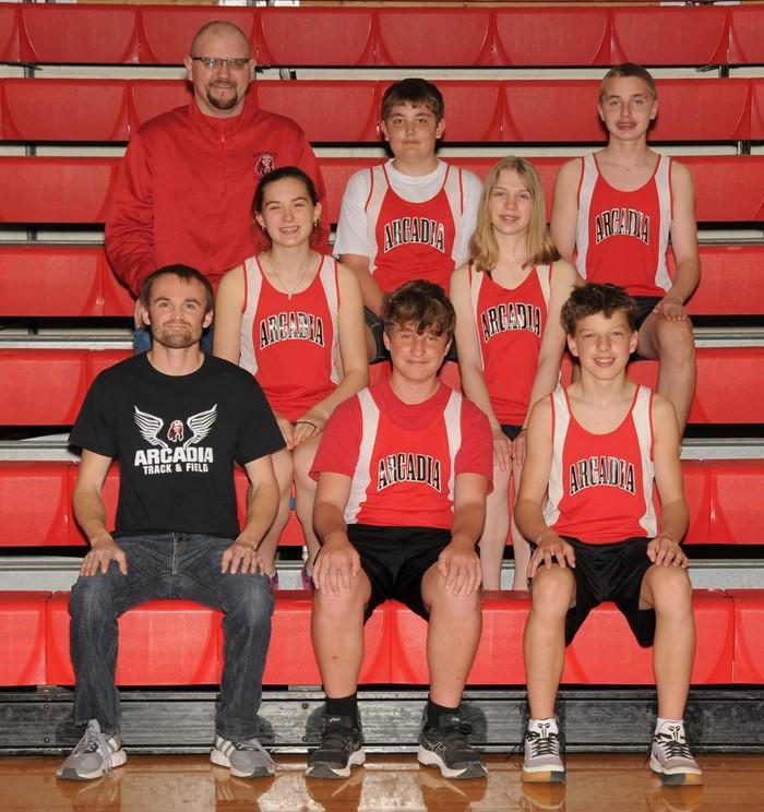 2020-21 Arcadia Redskins JH Boy's Track Team Photo