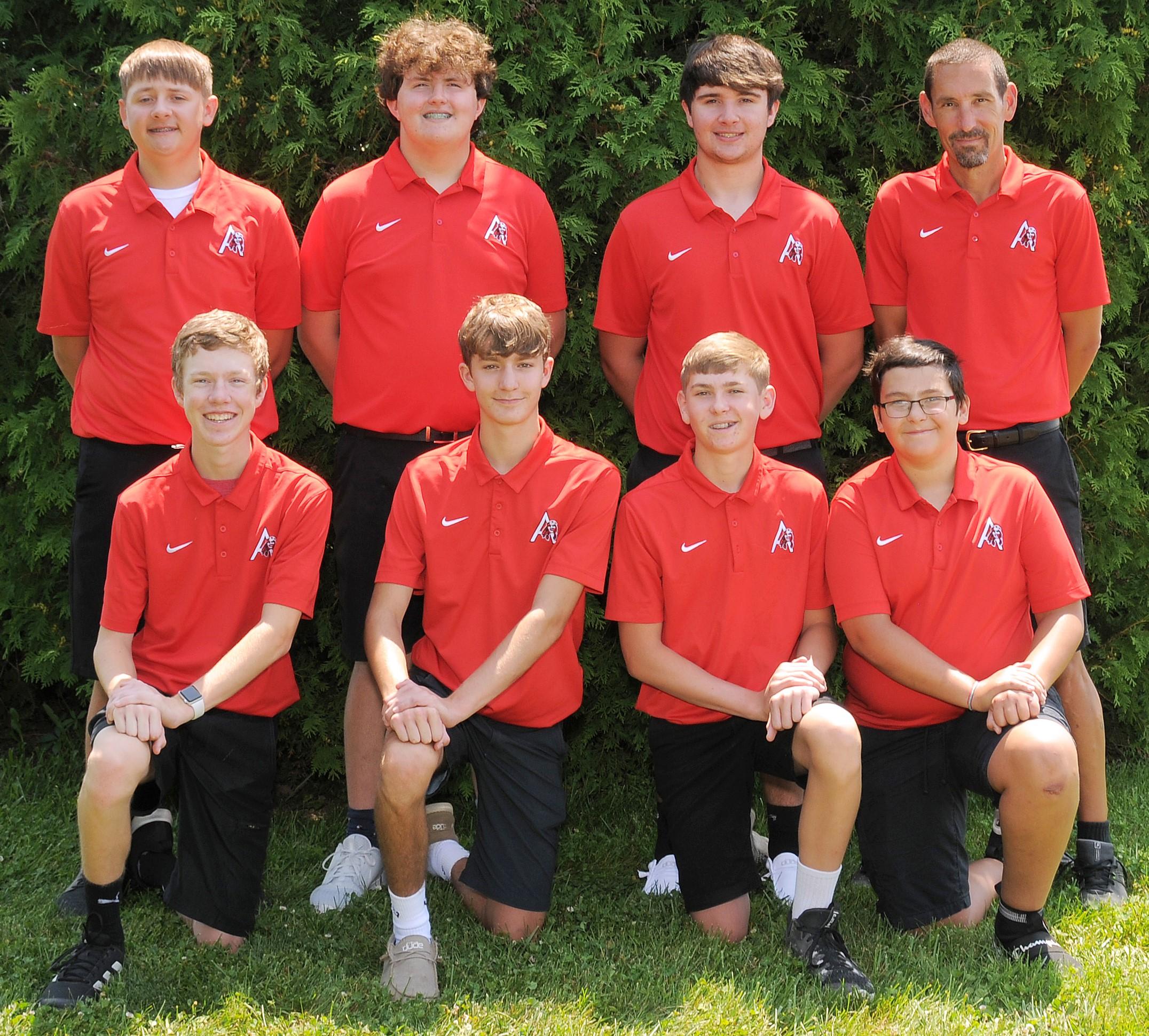 Arcadia Redskins 2021 Varsity Golf Team