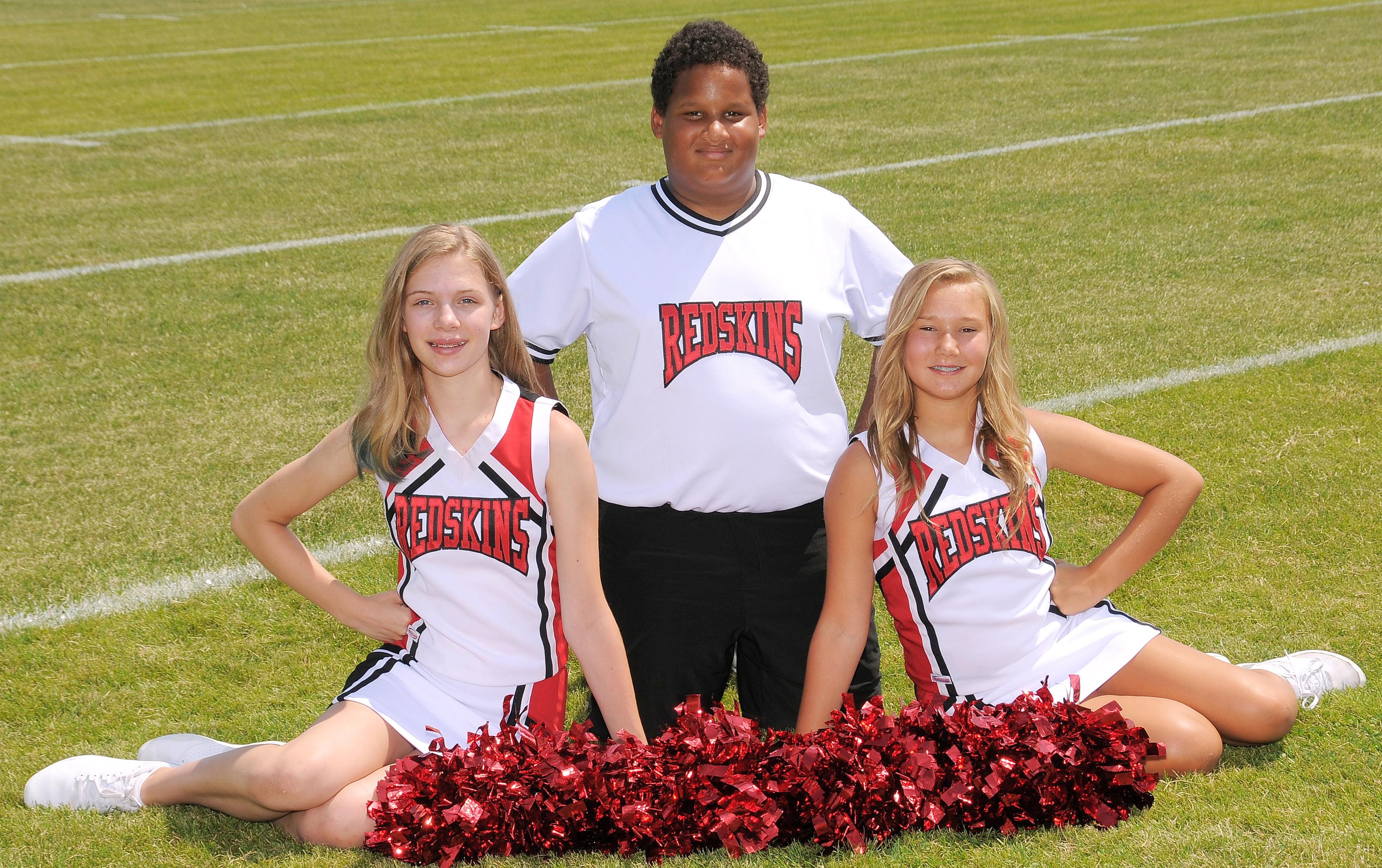 2021 Arcadia Redskins Middle School Football Cheerleaders Squad Photo