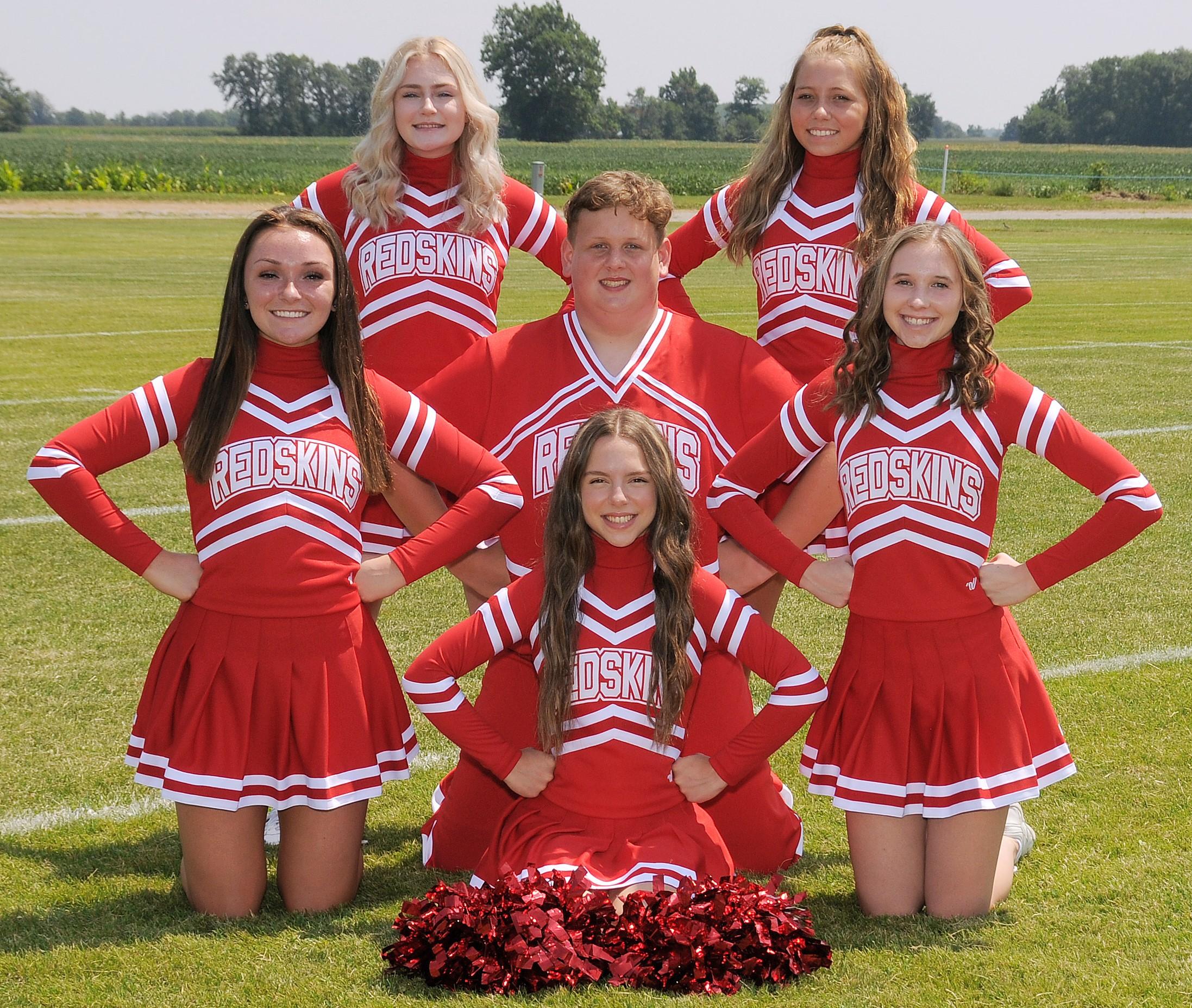 Arcadia Redskins 2020 Varsity Football Cheerleaders Squad Photo