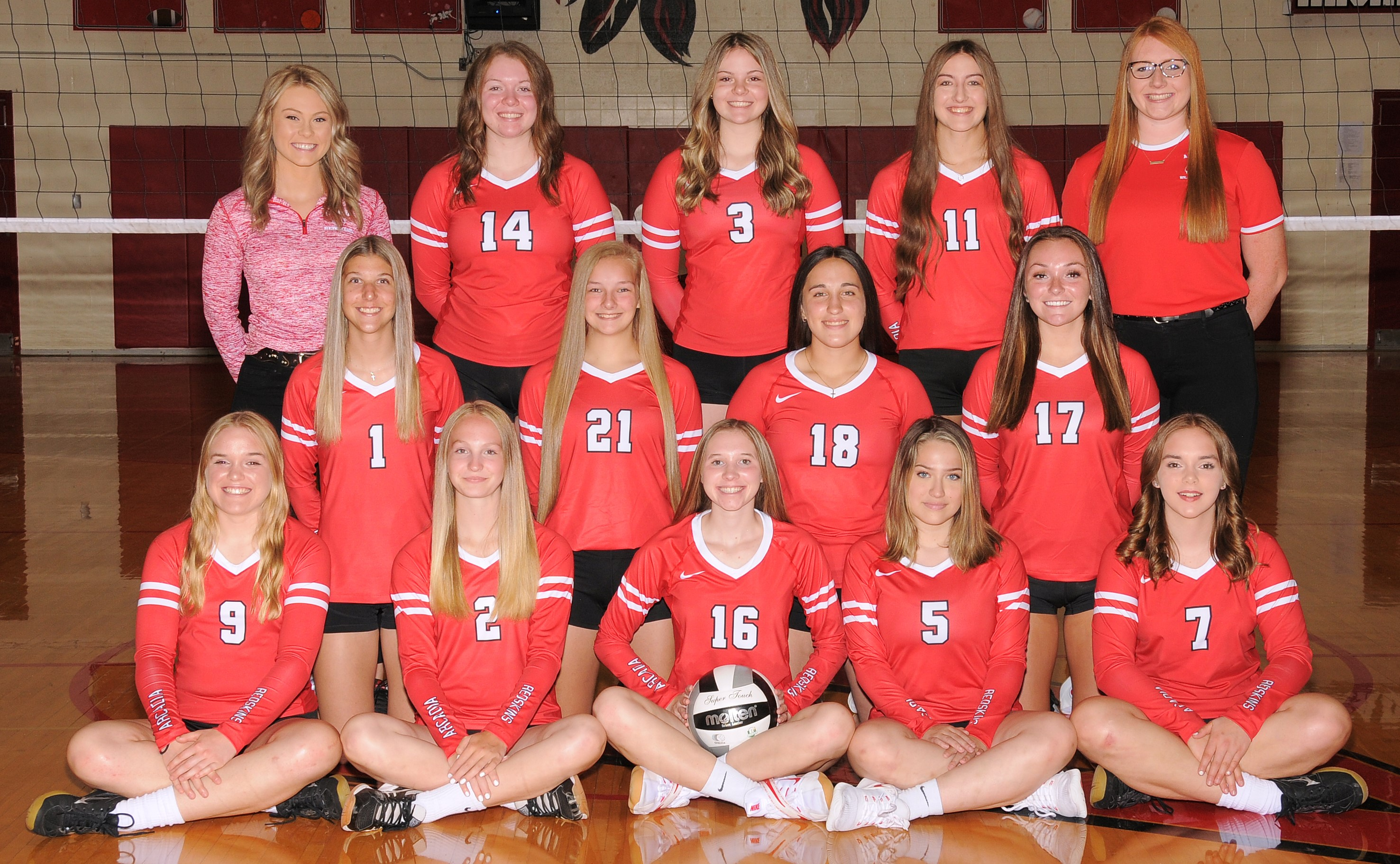 Arcadia Redskins 2021 Varsity Volleyball Team